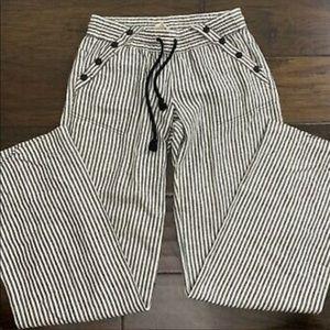 Rewind Size 1 Striped Linen Pants